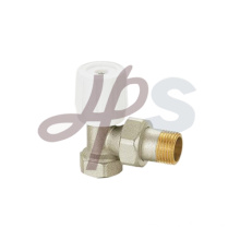 Brass radiator valves and nickel plated